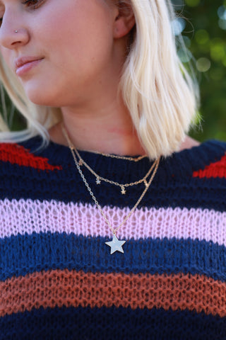 SHOOTING STAR LAYERED NECKLACE