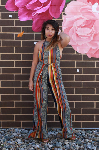 TONGUE TIED HIGH NECK JUMPSUIT