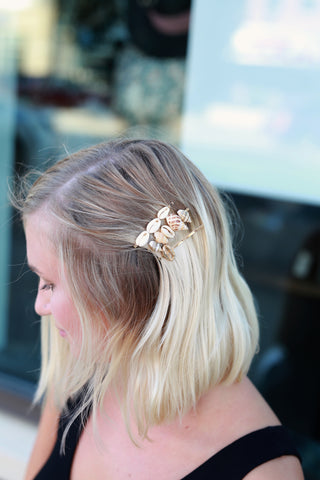 GOLD SEASHELL HAIR PIN SET