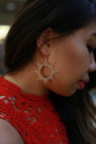HERE COMES THE SUN GOLD EARRINGS