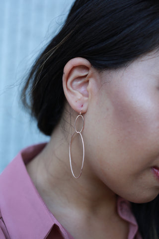 IN MY CIRLE ROSE GOLD EARRINGS