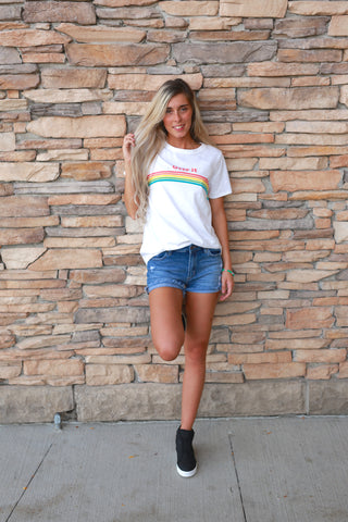 OVER IT RAINBOW GRAPHIC TEE