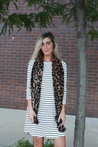 IN THE MEOW LEOPARD SCARF