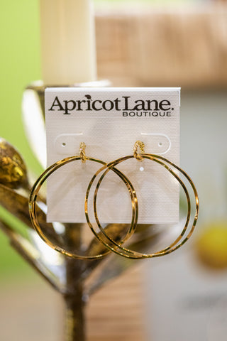 CIRCLE OF LIFE GOLD EARRINGS