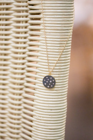 TOSS A COIN GOLD PENDANT NECKLACE
