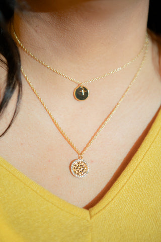 DOUBLE THREAT GOLD NECKLACE