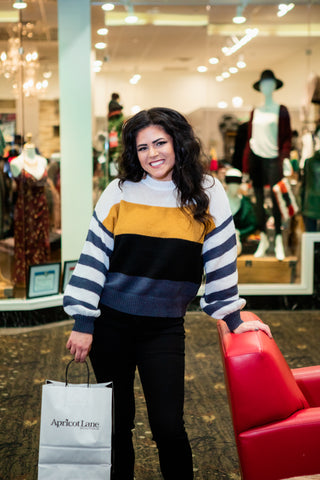 OUT OF LINE COLOR BLOCK SWEATER