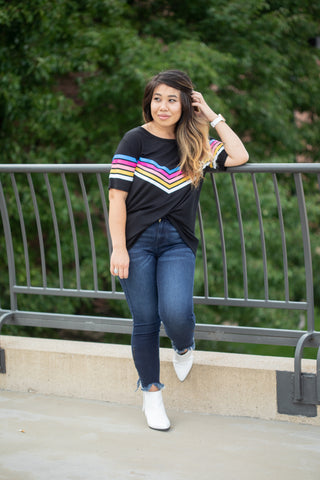 AS HIGH AS THE RAINBOW BLACK TEE