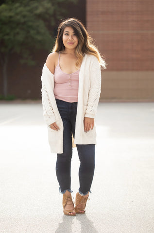 FALLIN' FOR YOU CARDIGAN: IVORY