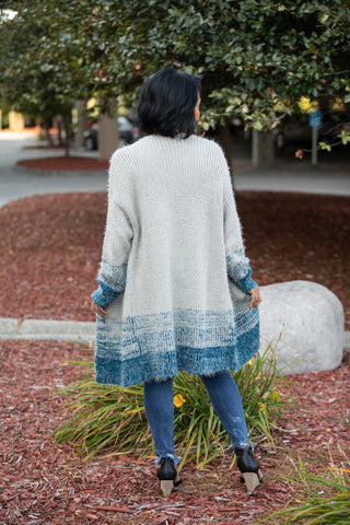 CLOUD NINE GREY OMBRE CARDIGAN