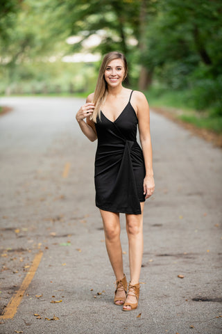 DANCING TIL TWILIGHT BLACK DRESS