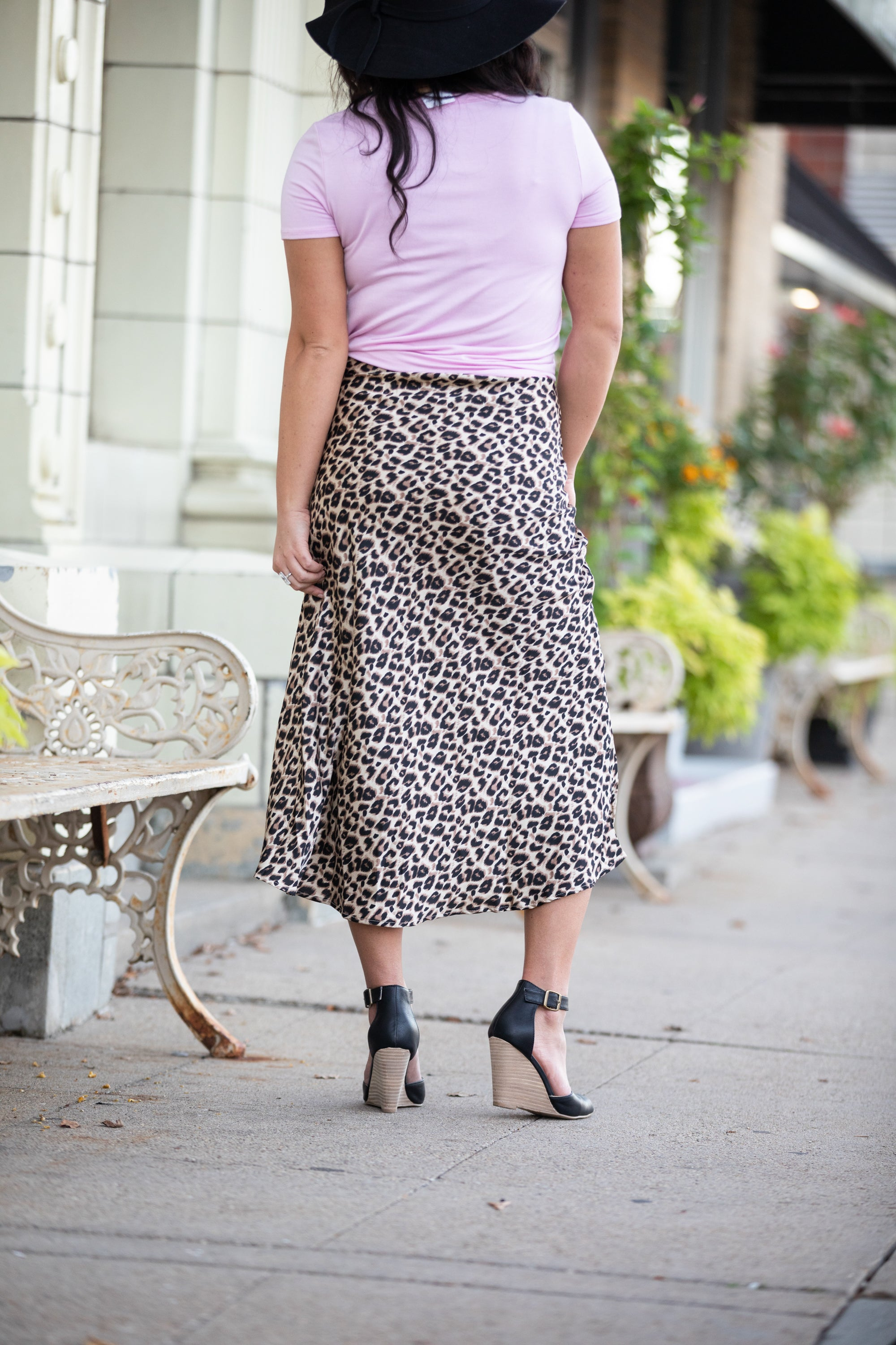 UNTAMED LEOPARD MIDI SKIRT