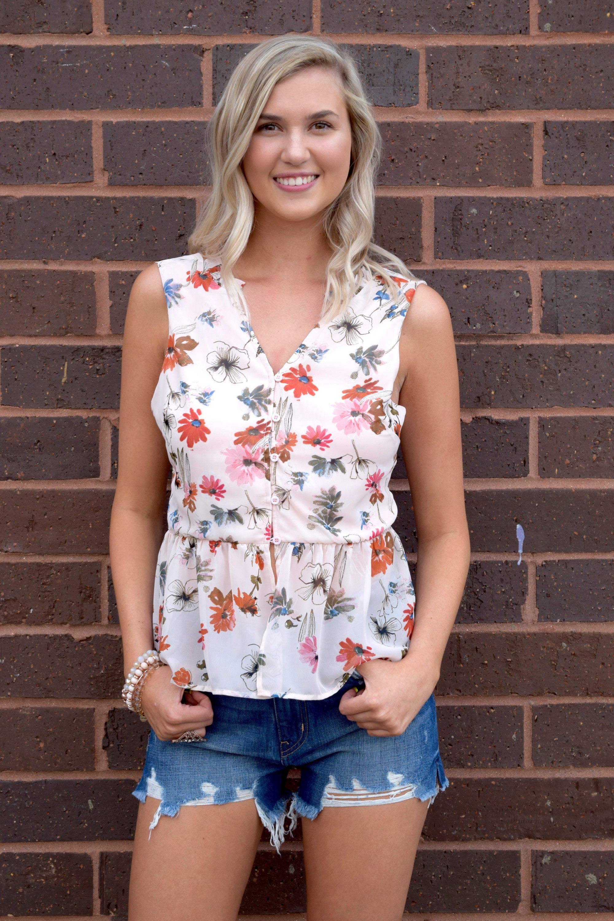 MILES PER FLOWER BLUSH BLOUSE