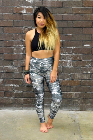ONZIE HIGH RISE LEGGINGS: MARBLE CAMO