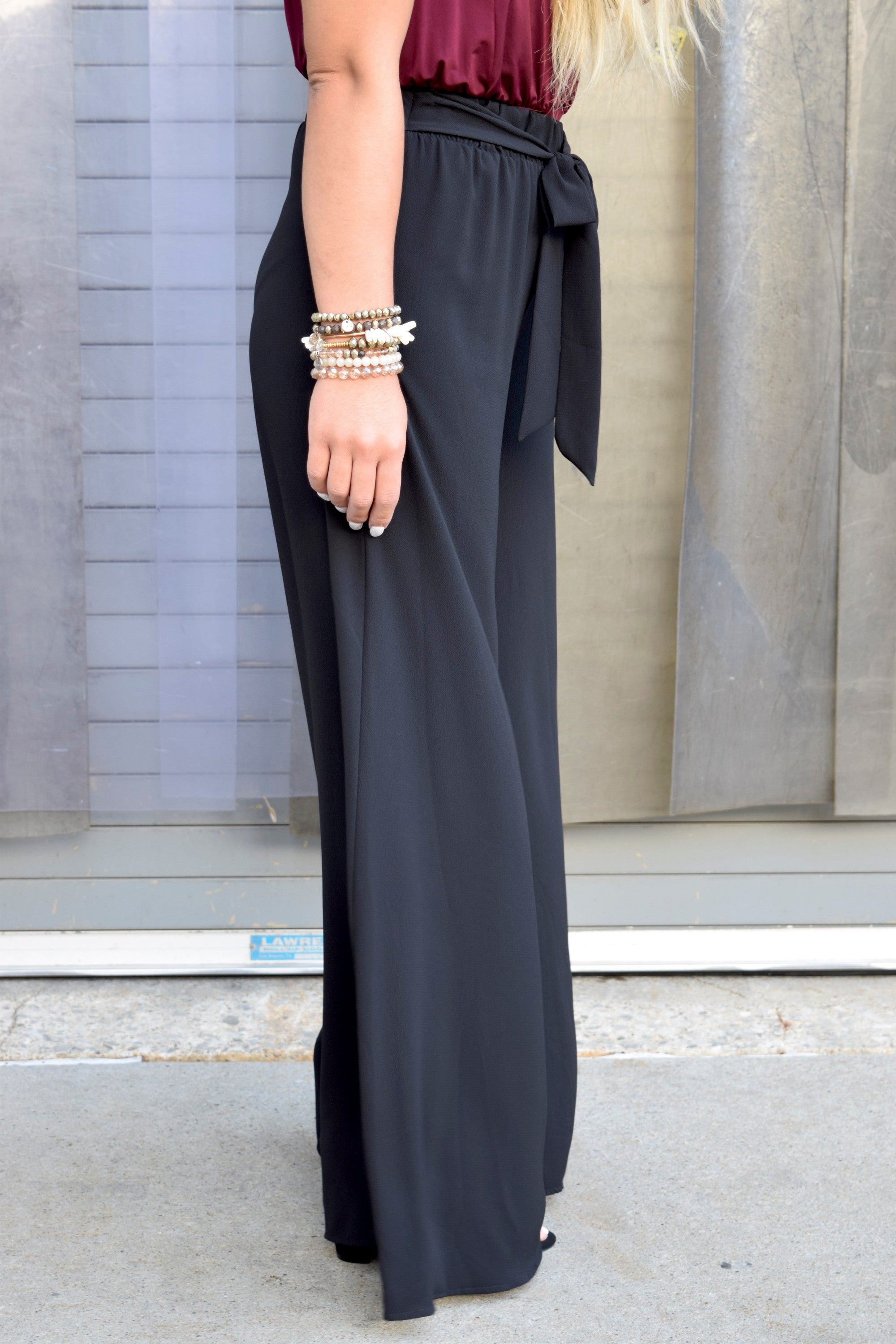 BLACK MAGIC WIDE LEG PANTS