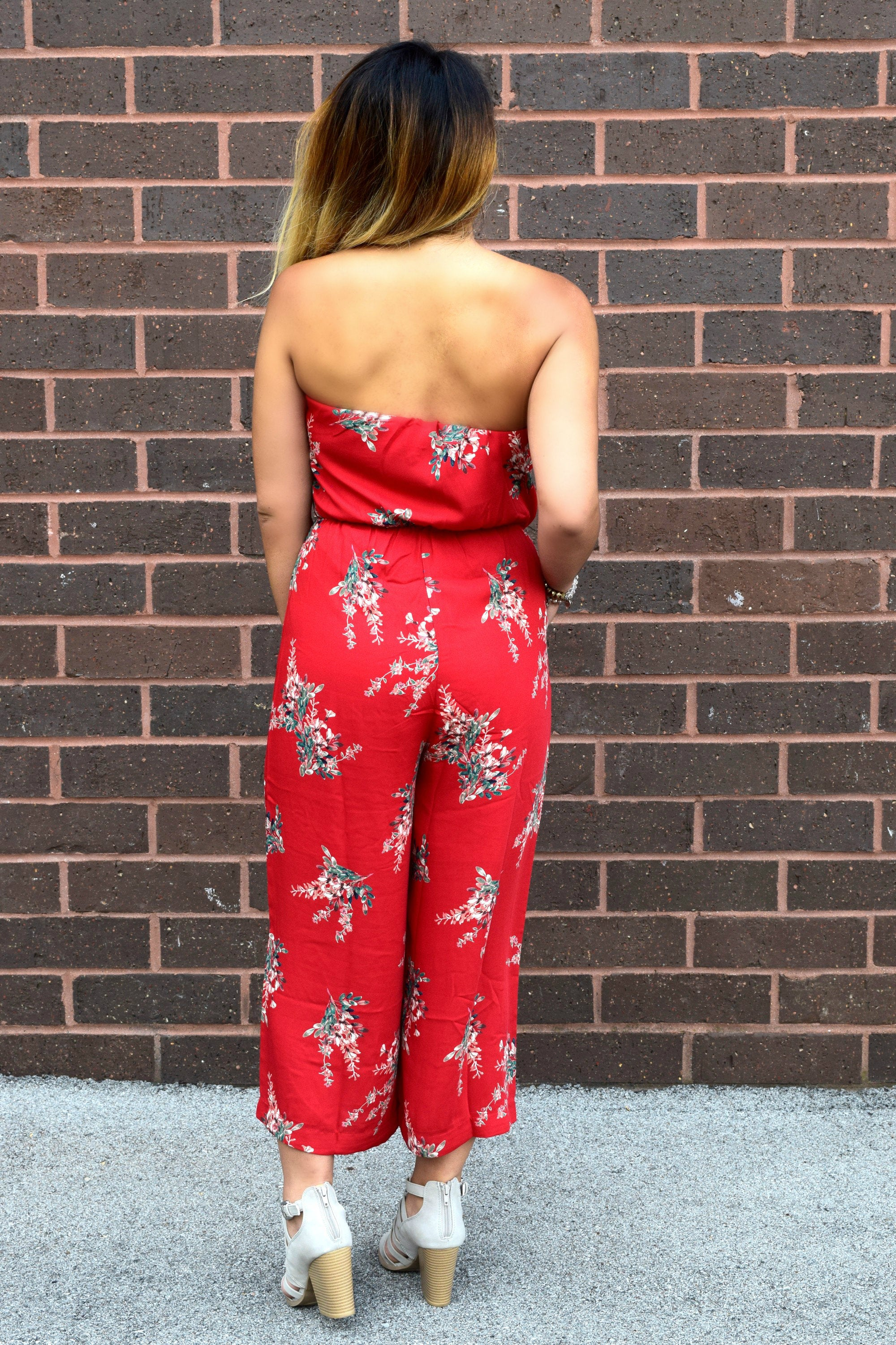 SEEING RED FLORAL JUMPSUIT