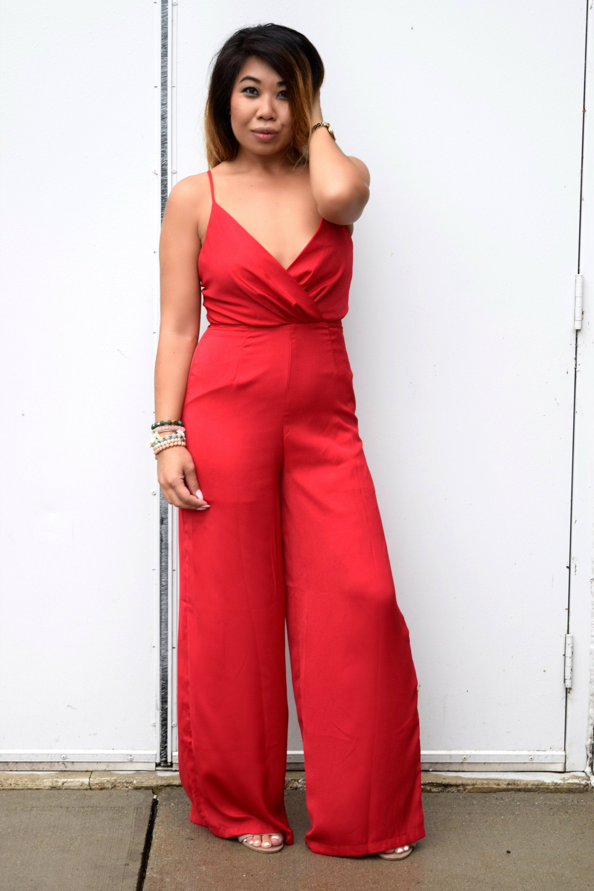 CHERRY SWEET RED JUMPSUIT