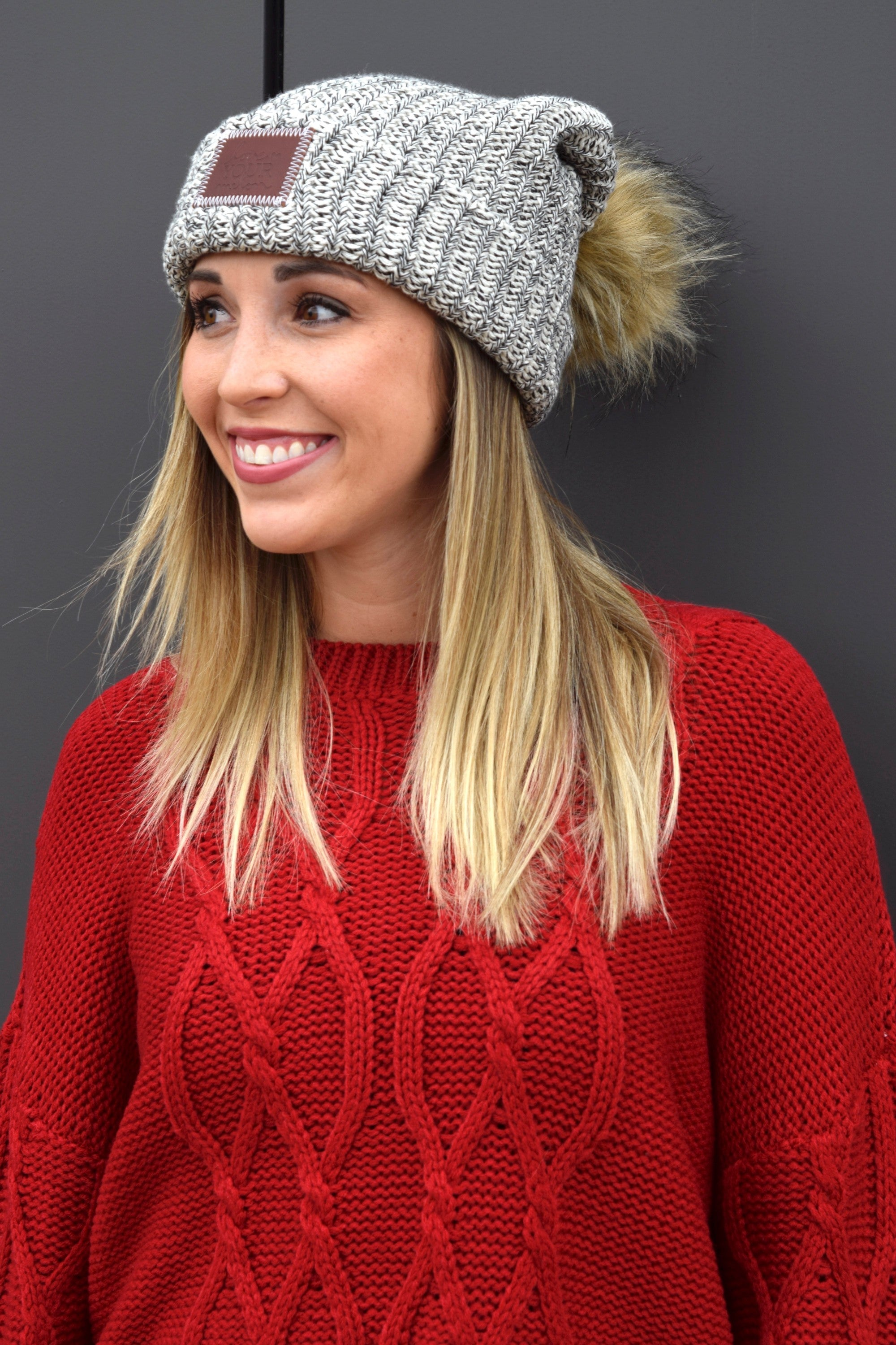 34873660df445 LOVE YOUR MELON BLACK SPECKLED POM BEANIE – Apricot Lane Boutique ...