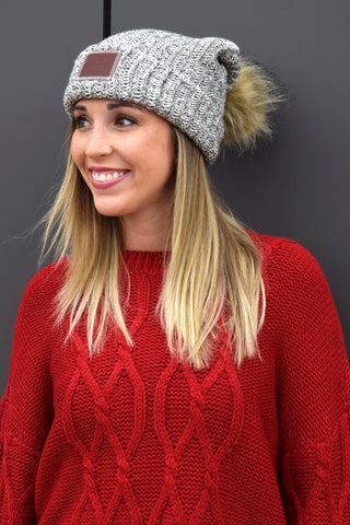 4d2063a4535 LOVE YOUR MELON WHITE SPECKLED POM BEANIE – Apricot Lane Boutique ...