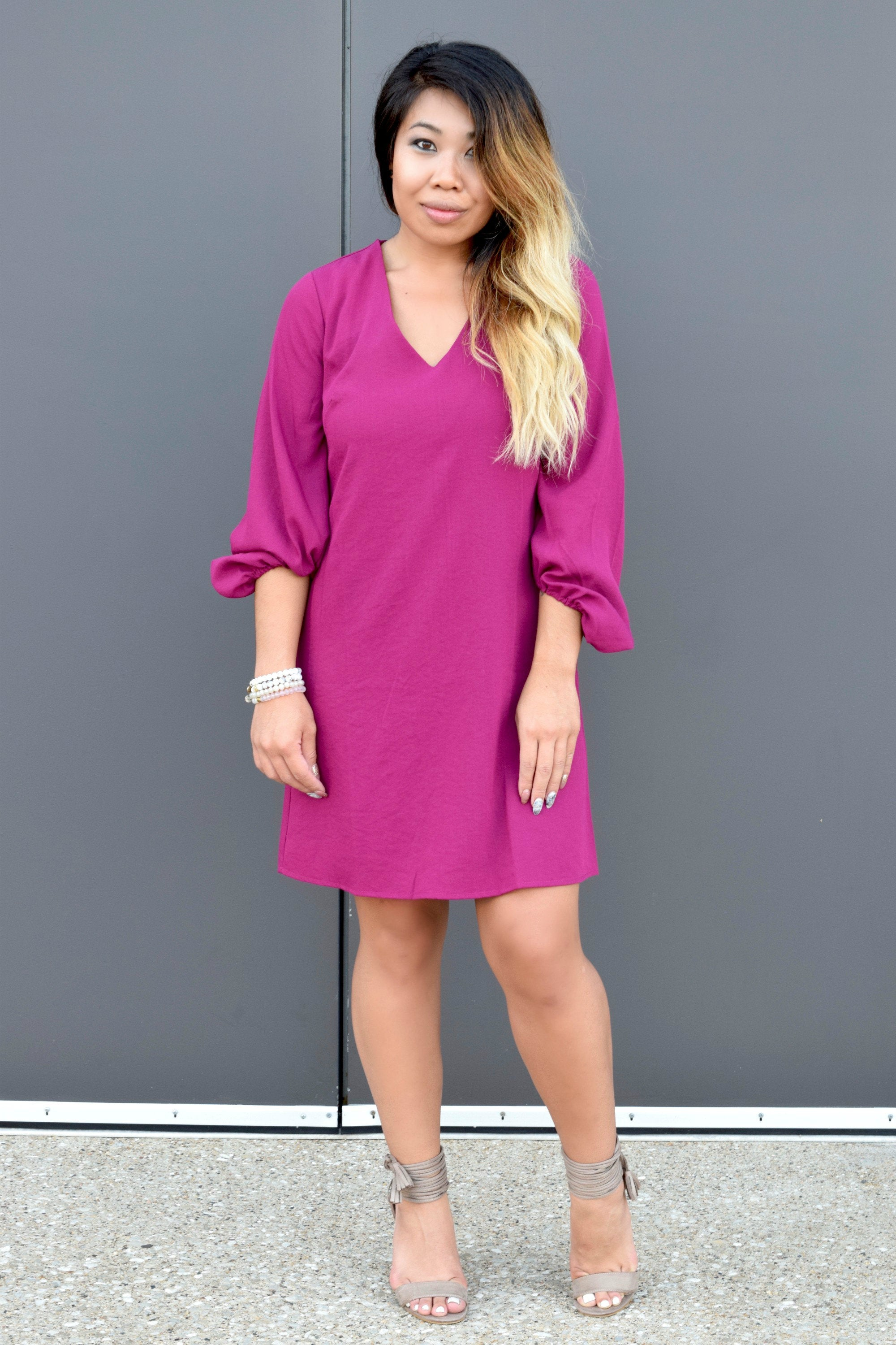 BIG PICTURE BERRY SHIFT DRESS