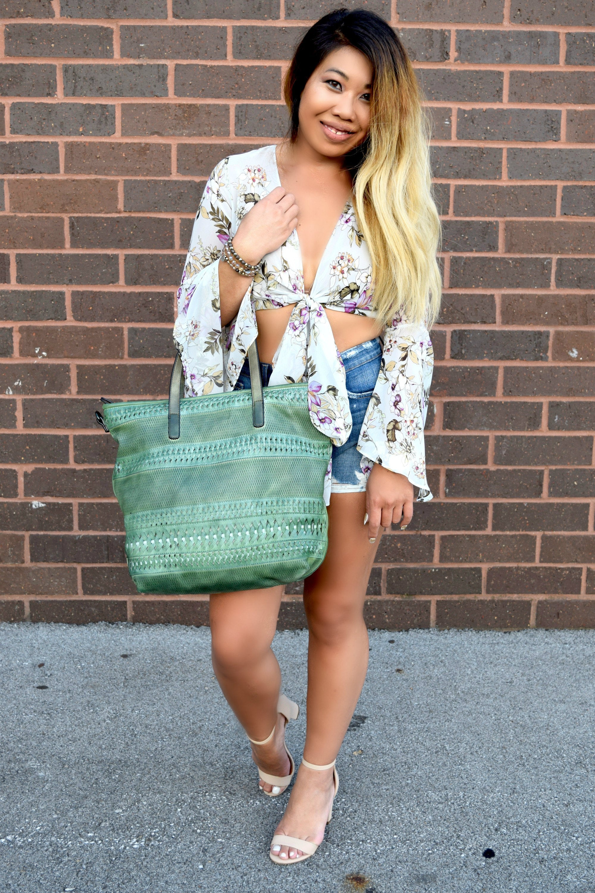 IN STYLE GREEN TOTE