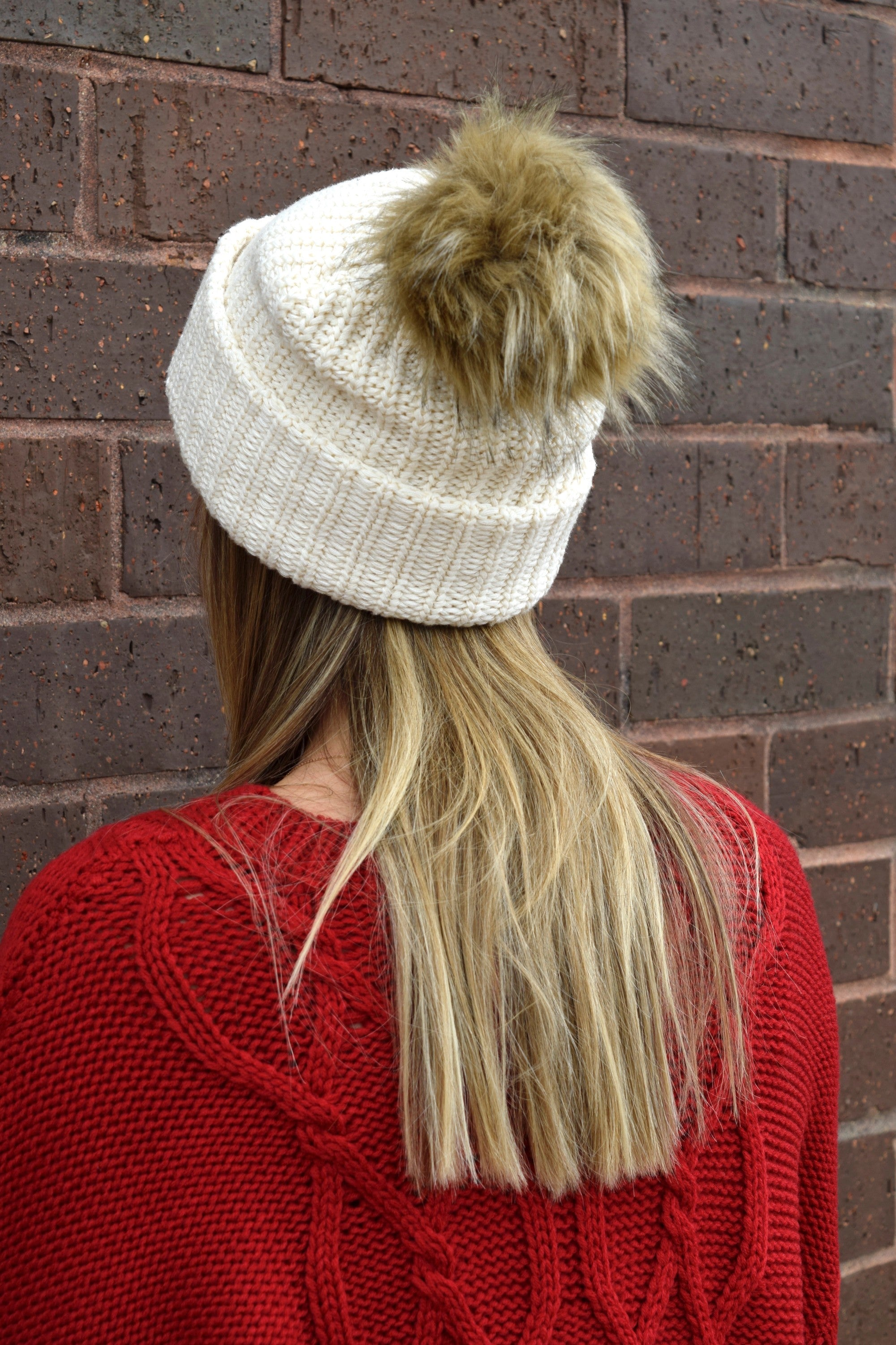 6b60a0efcff LOVE YOUR MELON WHITE SPECKLED POM BEANIE – Apricot Lane Boutique ...