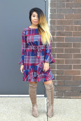 GOOD GIRL GONE PLAID DRESS