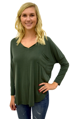 BETTER AND BETTER DARK GREEN TOP