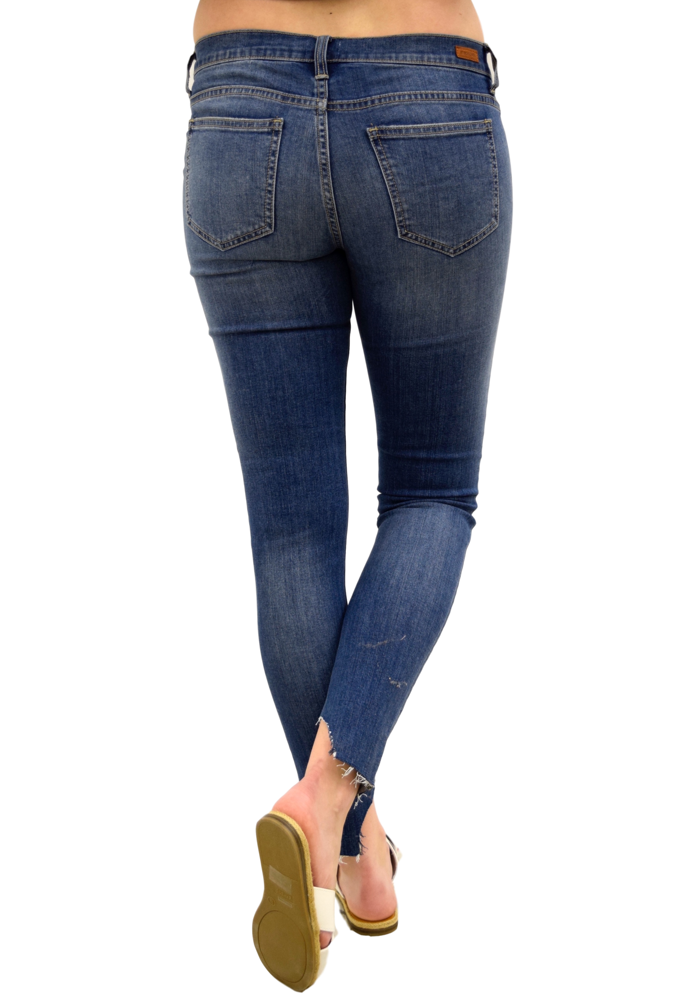 ROUGH PATCH LOW RISE DISTRESSED DENIM