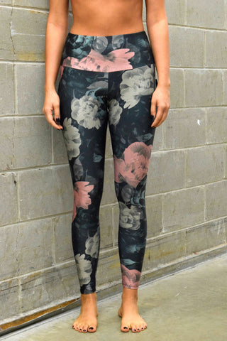 ONZIE HIGH RISE LEGGINGS: FLORAL