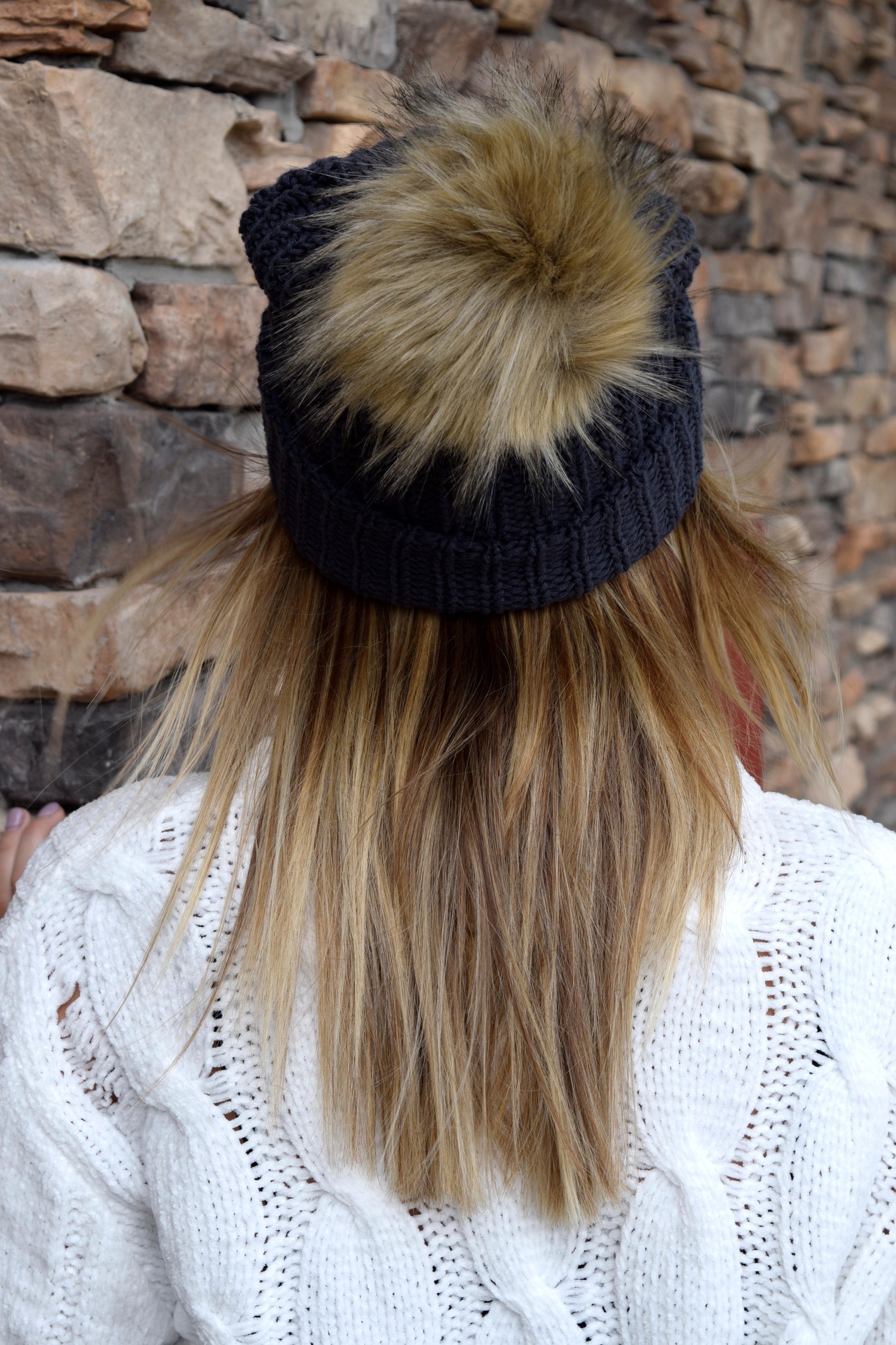 40742a71b17 LOVE YOUR MELON DARK CHARCOAL POM BEANIE – Apricot Lane Boutique ...