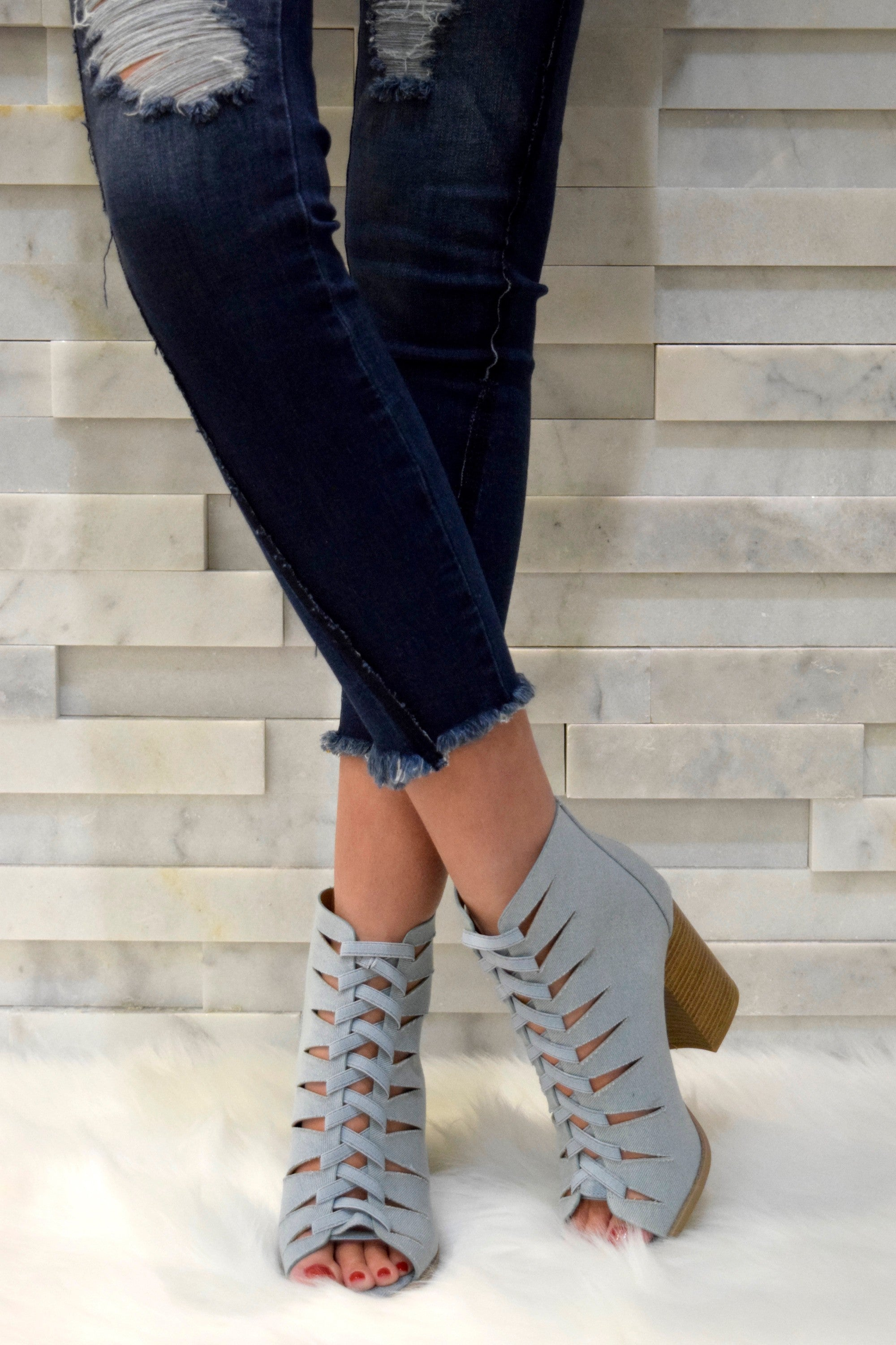 c7979b5c1f2 CROSSING PATHS DENIM BLOCK HEELS – Apricot Lane Boutique - Des Moines