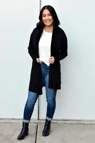 FOREVER FALL CARDIGAN: BLACK