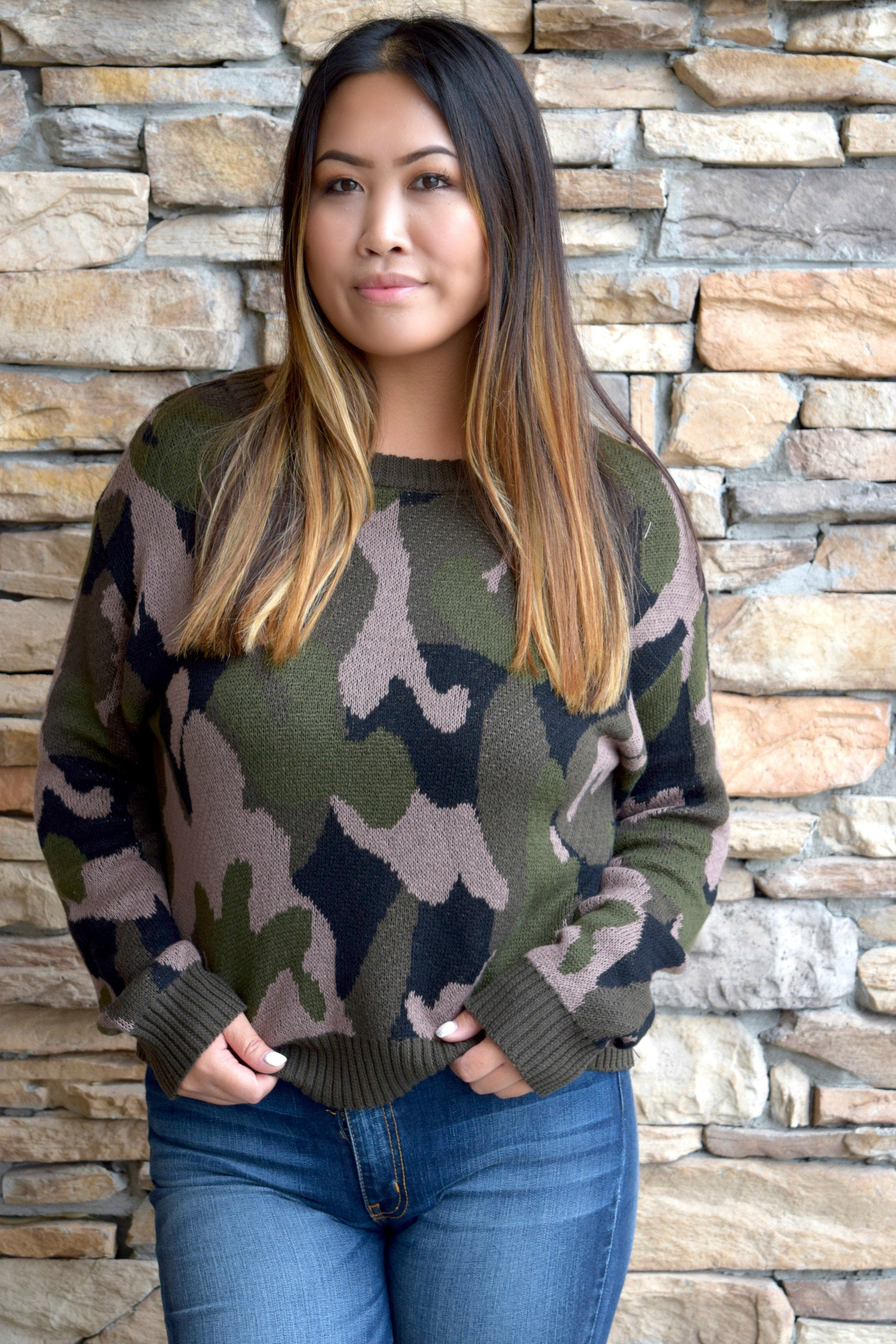 ARMY OF ONE CAMO SWEATER