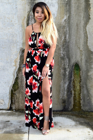 BLOOM BABY FLORAL MAXI DRESS