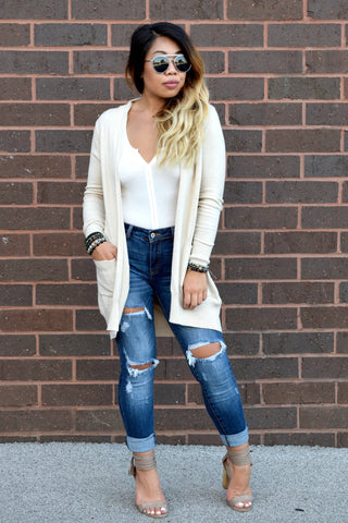 FOREVER FALL CARDIGAN: OATMEAL