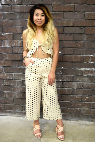 POISED IN POLKA DOTS SET: PANTS