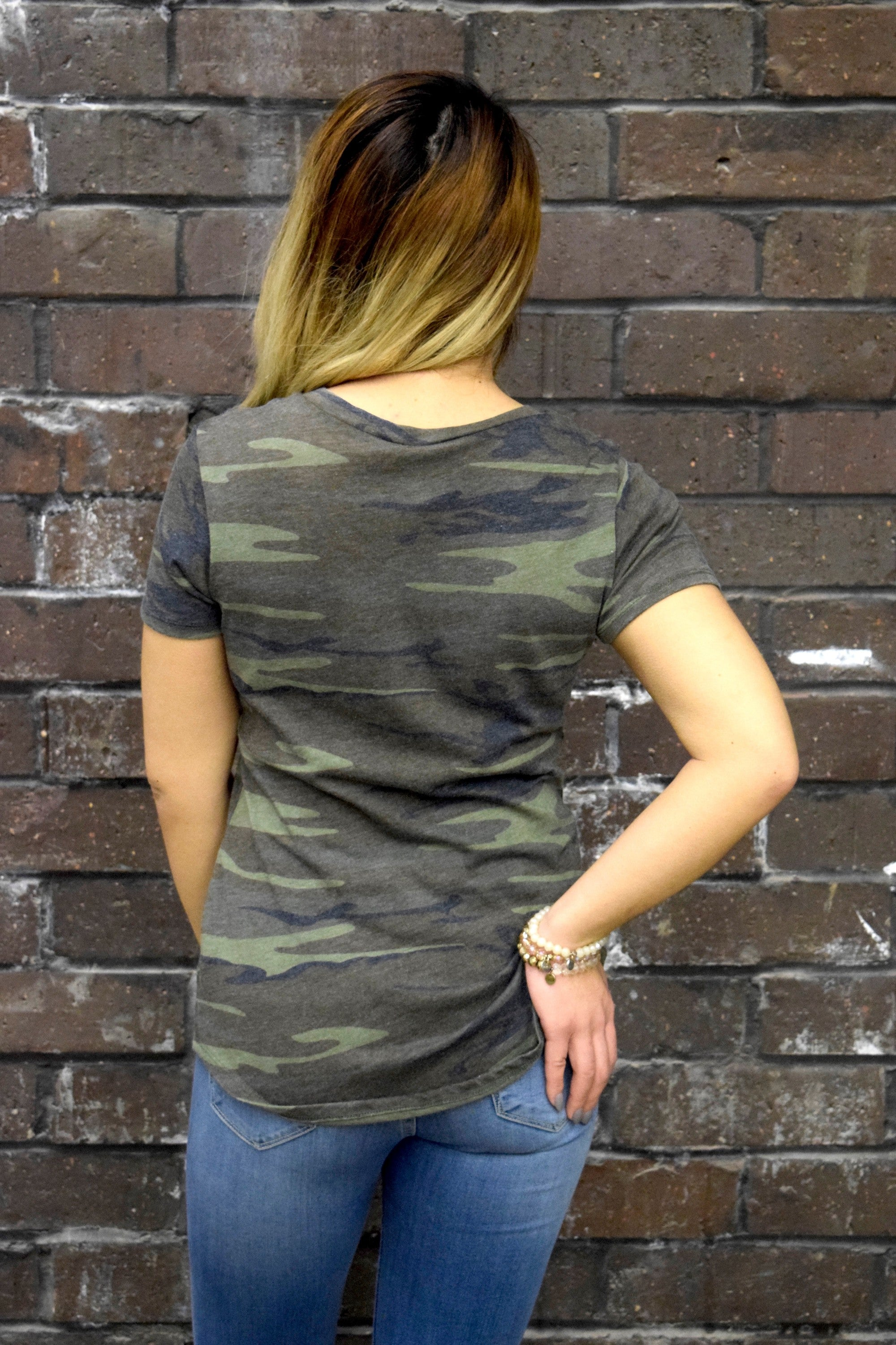 POCKET TEE: CAMO WHITE