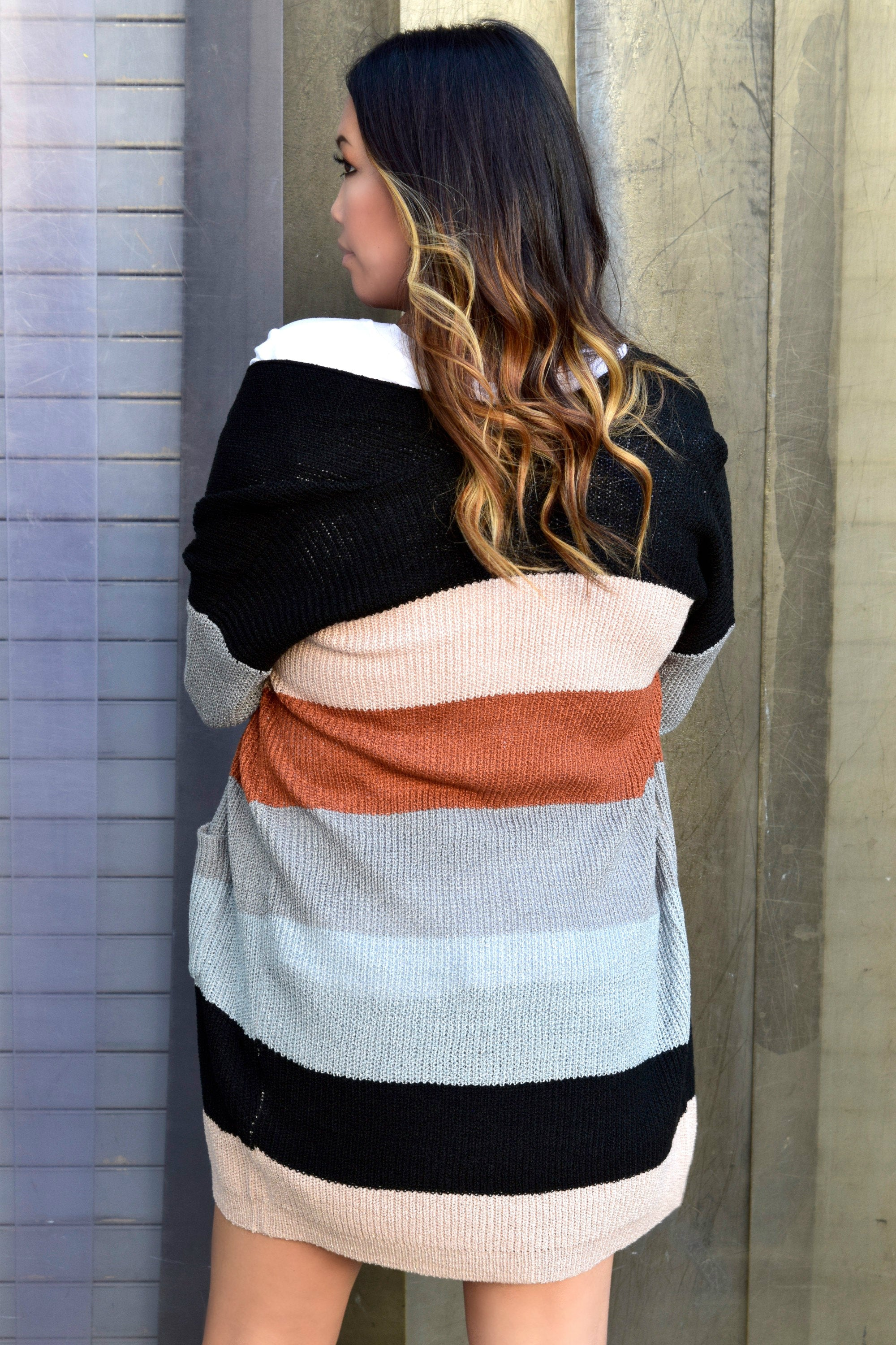 EVERYTHING YA GOT COLOR BLOCK CARDIGAN