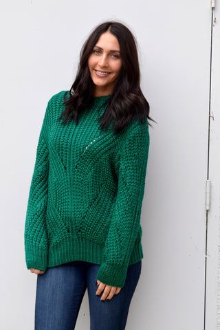 BEGINNERS LUCK GREEN SWEATER