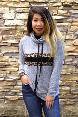 ON THE SPOT LEOPARD PULLOVER