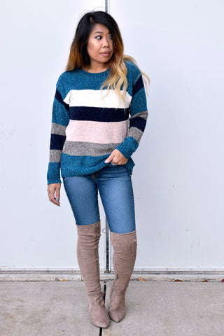 YOU'VE BEEN COLOR BLOCKED SWEATER