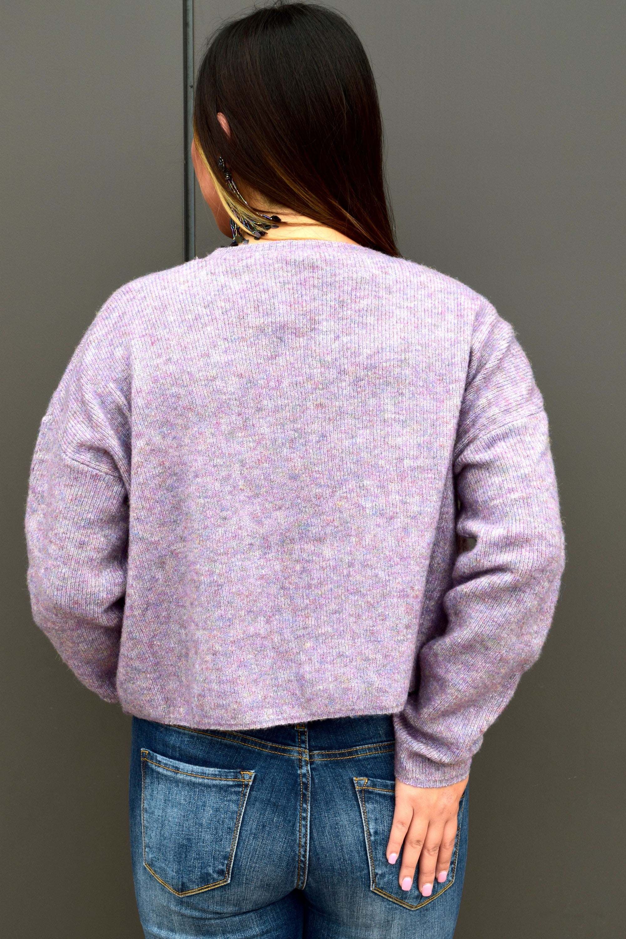 GO YOUR OWN WAY VIOLET SWEATER