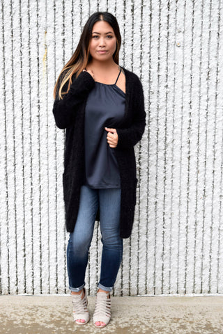 MOVING ON BLACK CARDIGAN