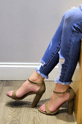 CHIC MOVES TAUPE HEELS