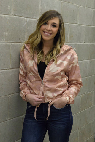 ARMY OF ONE CAMO JACKET: BLUSH