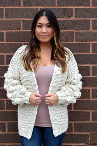 LOVE ME LIKE YOU DO CREAM CARDIGAN