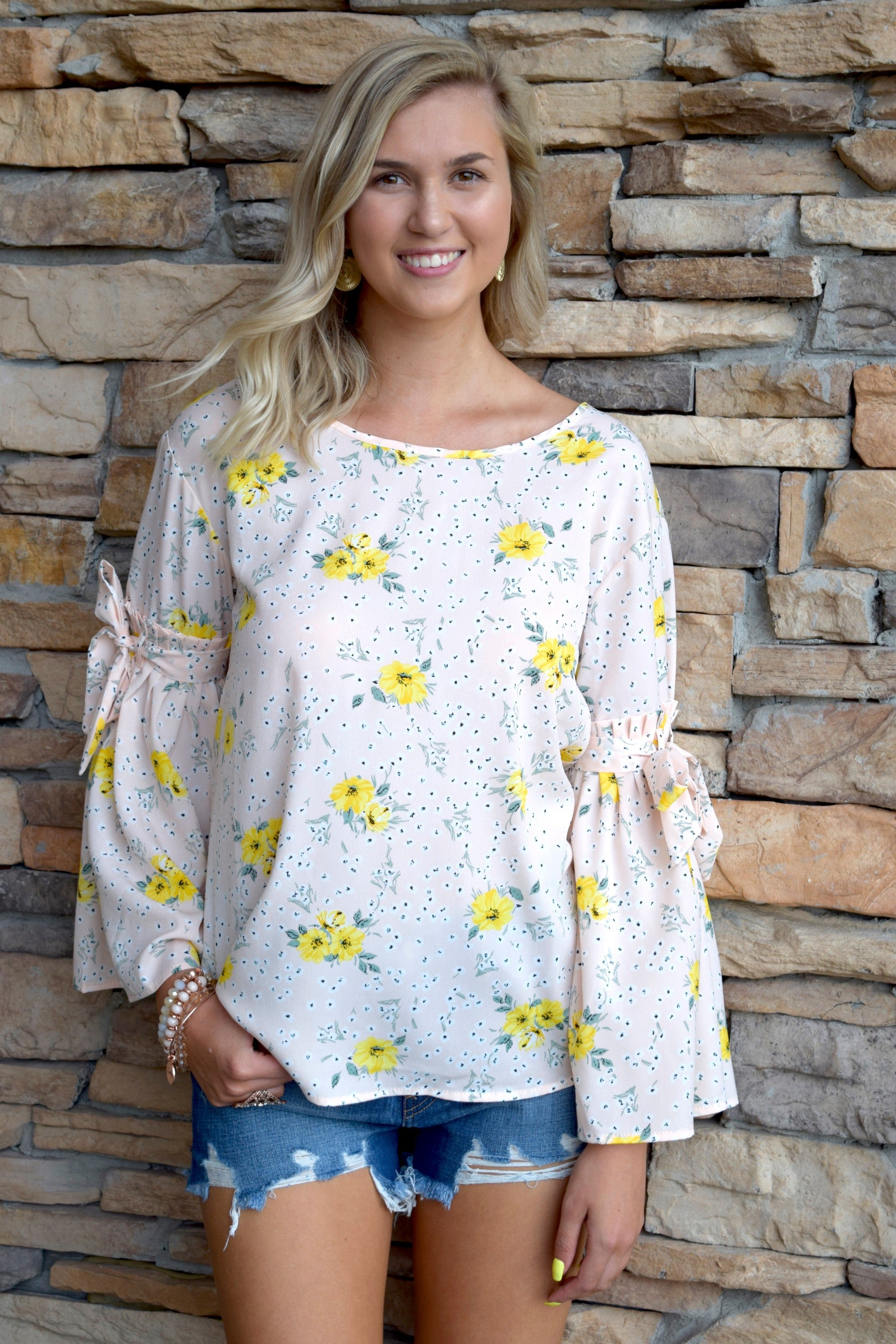 BELLE SLEEVES OF THE BALL BLUSH TOP