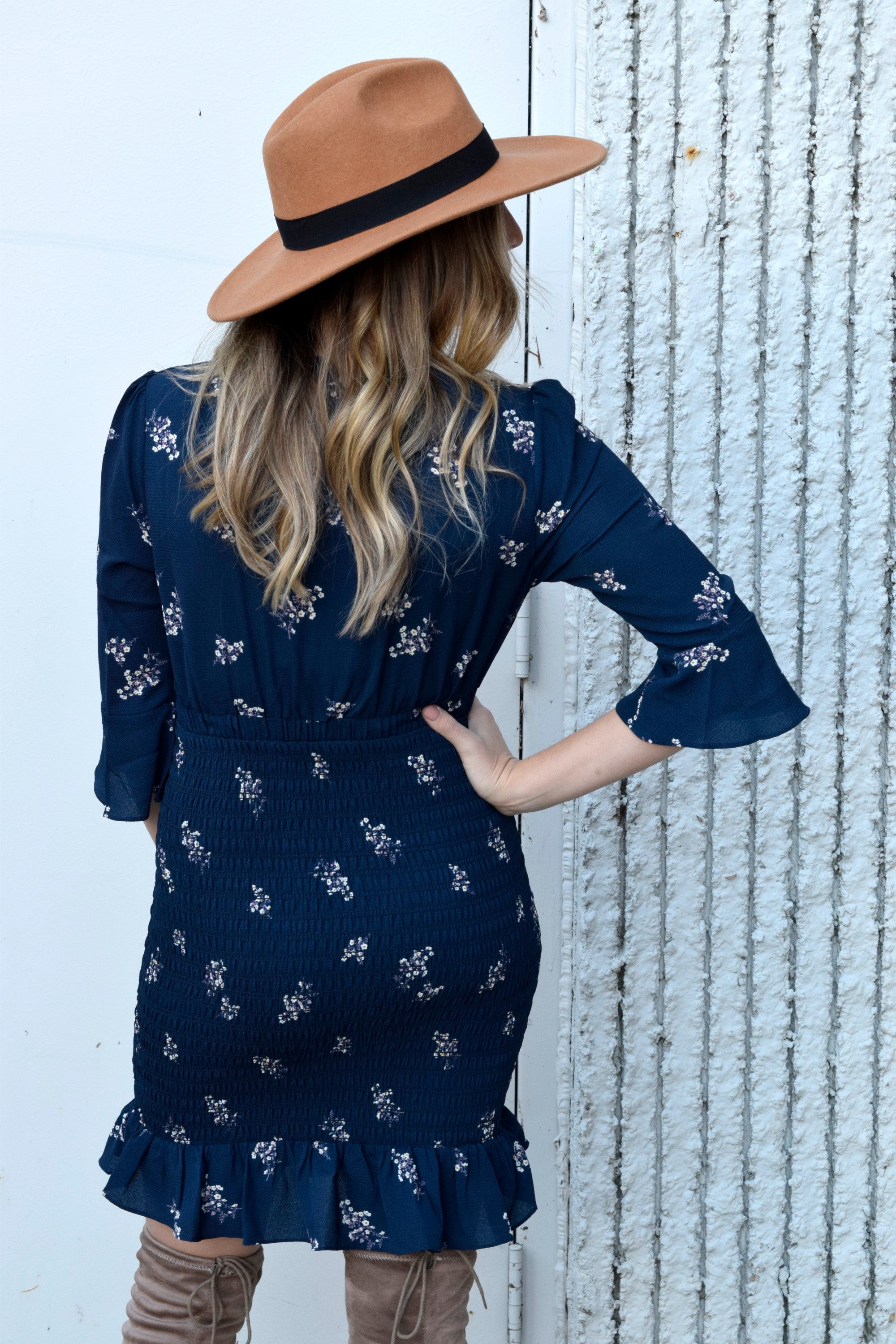 ALL DRESSED UP NAVY FLORAL DRESS
