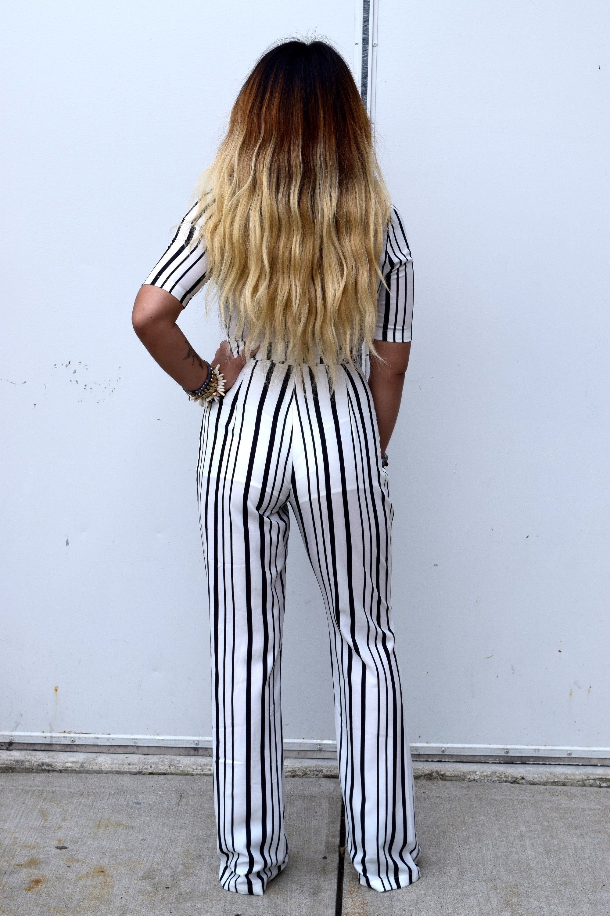 SMOOTH CRIMINAL BLACK AND WHITE JUMPSUIT